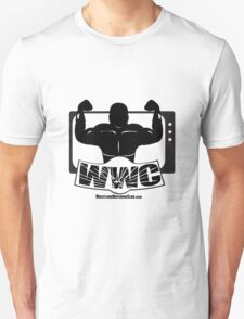 Wrestling Watching Club Glass Shatter BW Logo T-Shirt