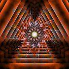 A Swirling Beauty Of An Orange Tunnel by xzendor7