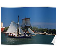 Tall ships in Toronto Poster