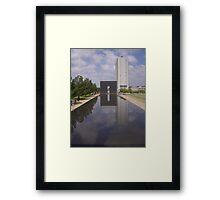 Oklahoma City Peace Framed Print