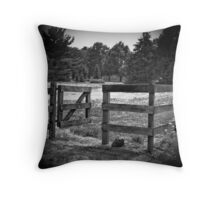 Who Left the Gate Opened? Throw Pillow