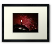 Disney magic in the night Framed Print