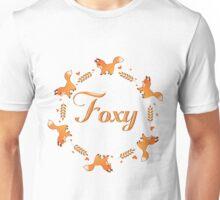 Cute Foxy Fox Wreath Unisex T-Shirt