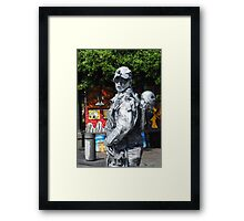 Who says a tin man can't have a heart? Framed Print
