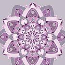 purple and grey mandala by resonanteye