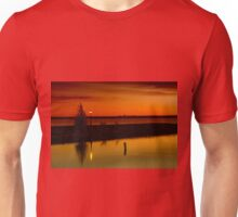 The Tree and the Lamp Post at Sunset - Aylmer Marina Unisex T-Shirt