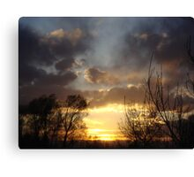 Sunset In Denver Colorado Canvas Print
