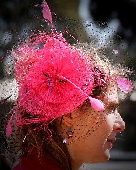 Pink Hat by Maureen Clark