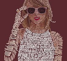 Red Taylor Swift Typography by Kristel To
