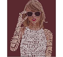 Red Taylor Swift Typography Photographic Print