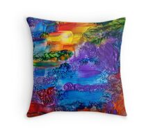 Fingerpainting Throw Pillow