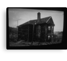 the house in the middle of nowhere. Canvas Print