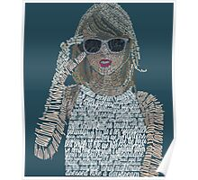 Blue Taylor Swift Typography Poster