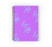 keegan allen's signature (purple) Spiral Notebook