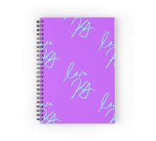 keegan allen's signature (purple) Spiral Notebook