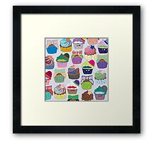 Colorful Cupcakes Framed Print