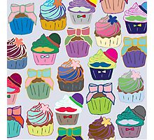 Colorful Cupcakes Photographic Print