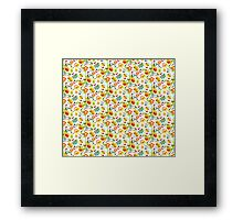 Blue and yellow flowers Framed Print