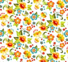 Blue and yellow flowers Sticker