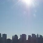 Sunrise over New York City by hcorrigan