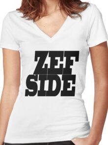 ZEF SIDE Women's Fitted V-Neck T-Shirt