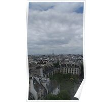 View of Paris from the Pompidou Centre Poster
