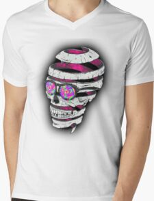 Psychedelic Skull  Mens V-Neck T-Shirt