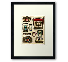 The History of the Camera Framed Print