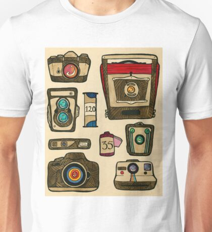 The History of the Camera Unisex T-Shirt