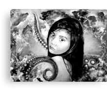 The other girl under the sea in BW  Canvas Print