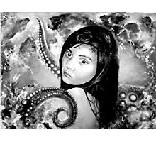 The other girl under the sea in BW  Photographic Print