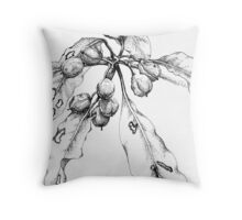 Rainforest fruits (Pittosporum undulatum) Throw Pillow