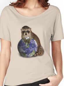 Earth Day Raccoon Women's Relaxed Fit T-Shirt