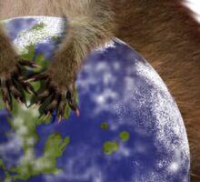 Earth Day Raccoon Sticker