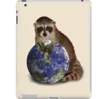 Earth Day Raccoon iPad Case/Skin