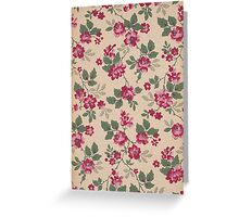 VIntage beautiful flowers Greeting Card