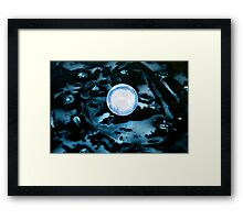 MOON SPACE Framed Print
