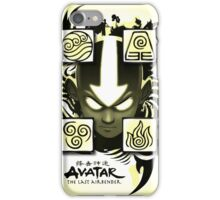Avatar the Last Airbender Elements Yellow iPhone Case/Skin