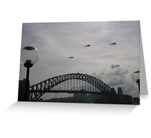 Black Hawk Helicopters, Sydney Harbour Bridge Greeting Card