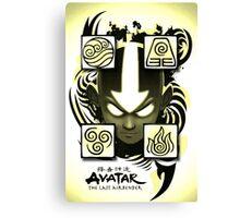 Avatar the Last Airbender Elements Yellow Canvas Print