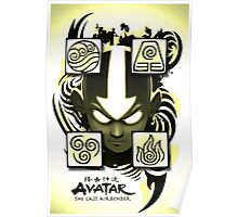 Avatar the Last Airbender Elements Yellow Poster