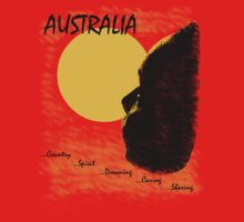 Aussie Dreaming - Red by Ron Marton