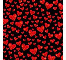 Black Hearts Motif Photographic Print