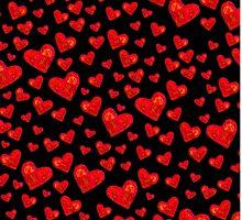 Black Hearts Motif by gretzky