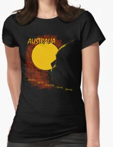 Aussie Dreaming - Black Womens Fitted T-Shirt