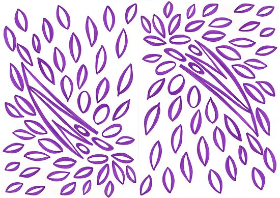 Passionately Purple - Lovely  Leaves by KazM