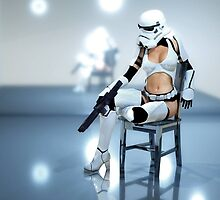 Sexy Stormtrooper by darkmatterart