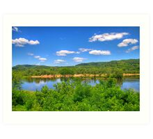Wisconsin River  Art Print