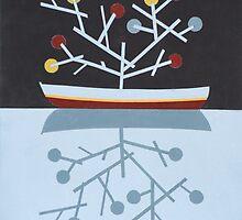 Reflection of bonsai by Patrick Petein