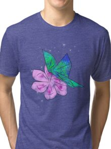 Origami Butterfly Tri-blend T-Shirt